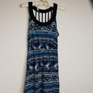 Women's Large Sleeveless Caged back Maxi dress
